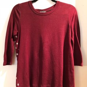 Papermoon for Stitch Fix mixed media top in XS